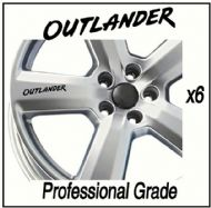 MITSUBISHI OUTLANDER CAR WHEEL DECALS